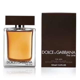 D&G The One EDT for Men (100ml/Tester/1.5ml Vial) Dolce & Gabbana