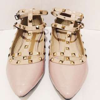 Valentino Inspired Pink Shoes