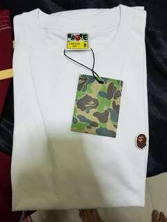 BNWT BAPE Embroidered Ape Head One Point T-Shirt