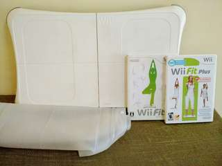 Nintendo Wii Fit Plus Balance Board +Wii Fit(JPN VER.) + Wii Fit Plus & Silicone Case Cover for Board