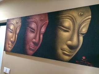 Three Tone Buddha Painting