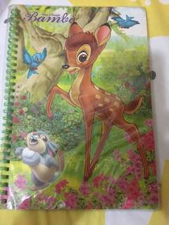 Bambi note book