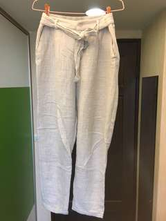 🚚 Zara 棉柔西裝褲 淺灰S