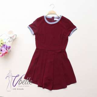 Filly maroon playsuit