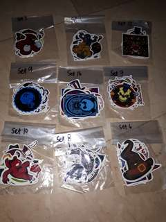 Random stiker sets 11 pcs each set
