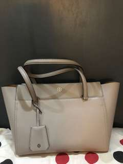 Brand new authentic Tory Burch Gray Parker Tote