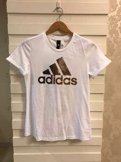 🚚 adidas圓領短袖T恤白色尺寸XL