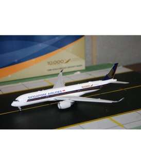 """JC Wings 1/400 Singapore Airlines A350-900 """"10,000th Airbus Aircraft"""" 9V-SMF Flaps Down Rare"""