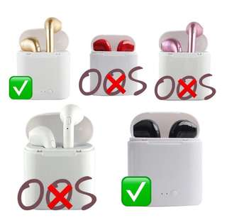 i7S WTS Bluetooth Earpiece set