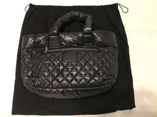 極新CHANEL Nylon Quilted Large Coco Cocoon Shopping Tote and Messenger Bag