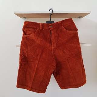 Corduroy Orange Shorts