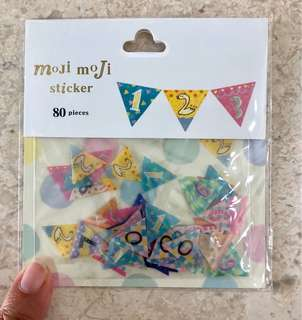 Bunting number stickers, 80pcs
