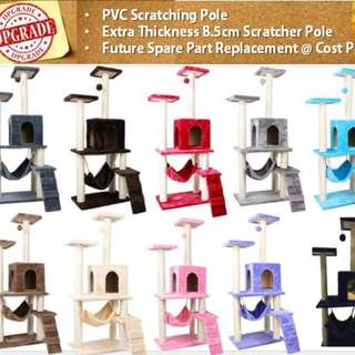 Premium Quality PVC upgrade Cat climbers Cat tree cat climbers for kitten cat furniture multiple colours