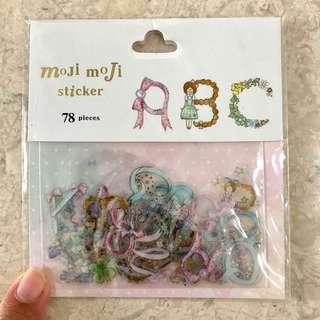 Garden-themed alphabet stickers, 78pcs