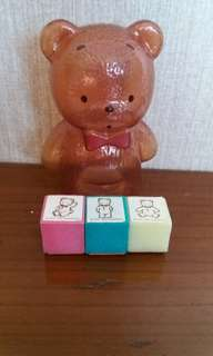 中古Sanrio Mr Bear's Dream Stamp Set(1995)