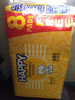 Happy 58 pcs diapers SMALL