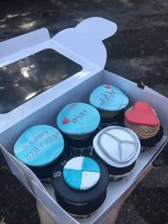 BMW and Mercedes Cupcakes