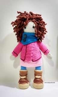 Crochet Doll Monja with 134 strands of hair ! / Amigurumi