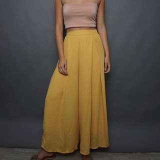 Yellow Flowy Pants