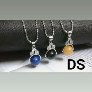 Lapis Yellow Jasper Pendant, FREE necklace