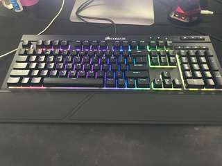Corsair K68 RGB Mechanical Gaming Keyboard - Mx Blue ultra durable RGB backlighting switch, water & dust resistance