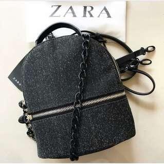 Zara backpack glitter
