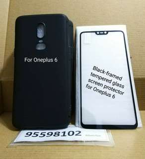 OnePlus 6 Mobile Case & tempered glass screen protector