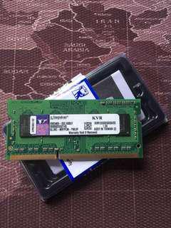 KINGSTON DDR3 RAM LAPTOP 2GB