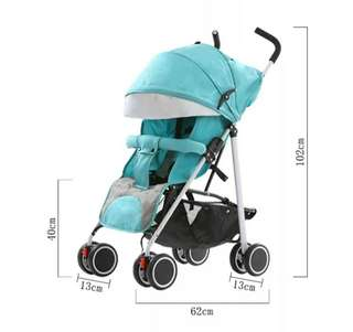 Baby Stroller free storage bag available blue and red