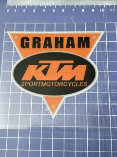 KTM GLASS DECAL