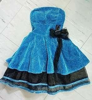 Sparkling Blue Cocktail Dress