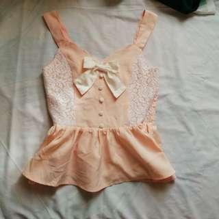 Blush pink Peplum Top