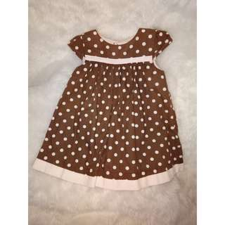 Polkadot Brown Dress