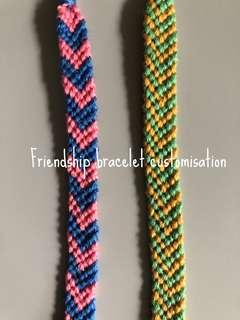 Friendship bracelet customisation