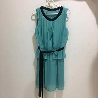 Turquoise Blue Sunday Dress (Knee Length)