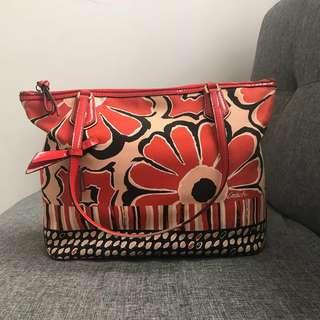 Turun harga!! Coach Canvas floral bag