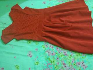 DRESS MERAH FIT TO L
