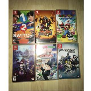 Nintendo Switch Games for sales