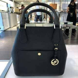 MK large greenwhich grab bag black/optic white