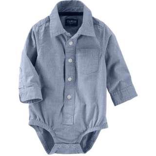Bnip Oshkosh button front bodysuit
