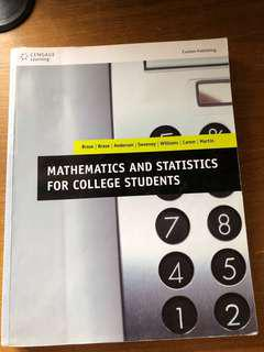Mathematics and Statistics For College Students 極新