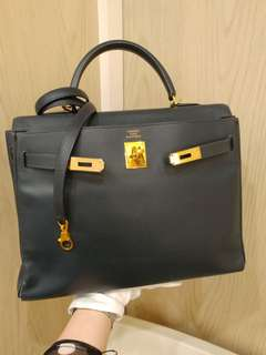 Hermes kelly 35 epsom navy blue