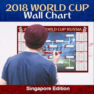 2018 World Cup wallchart