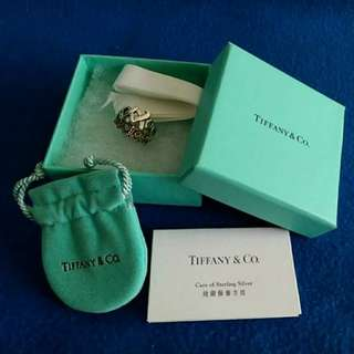 Tiffany & Co. Sterling Silver Palomar Picasso X KISS Ring,Preowned,Great condition,With original gift packaging。