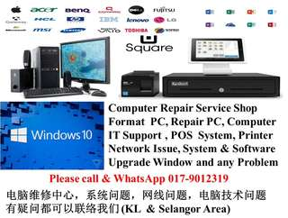 Setapak repair computer format pc laptop desktop KL