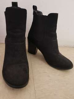 Marco Gianni suede boots black