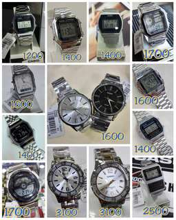 Casio watch Gold and Silver