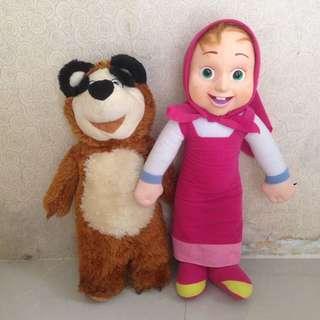Sepasang Boneka masha and the bear