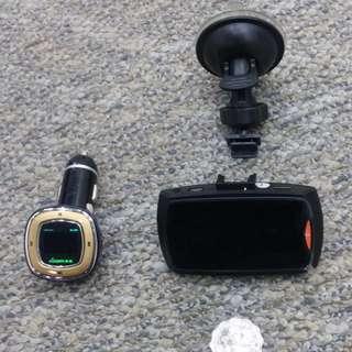 1080P高清HDNI汽車記錄器+汽車MP3播放器