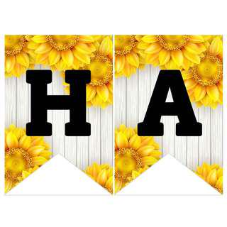 Bunting Banner - Sunflowers